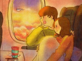 비행기 안에서(In the plane)