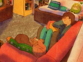 TV를 봐요 (Watching TV)